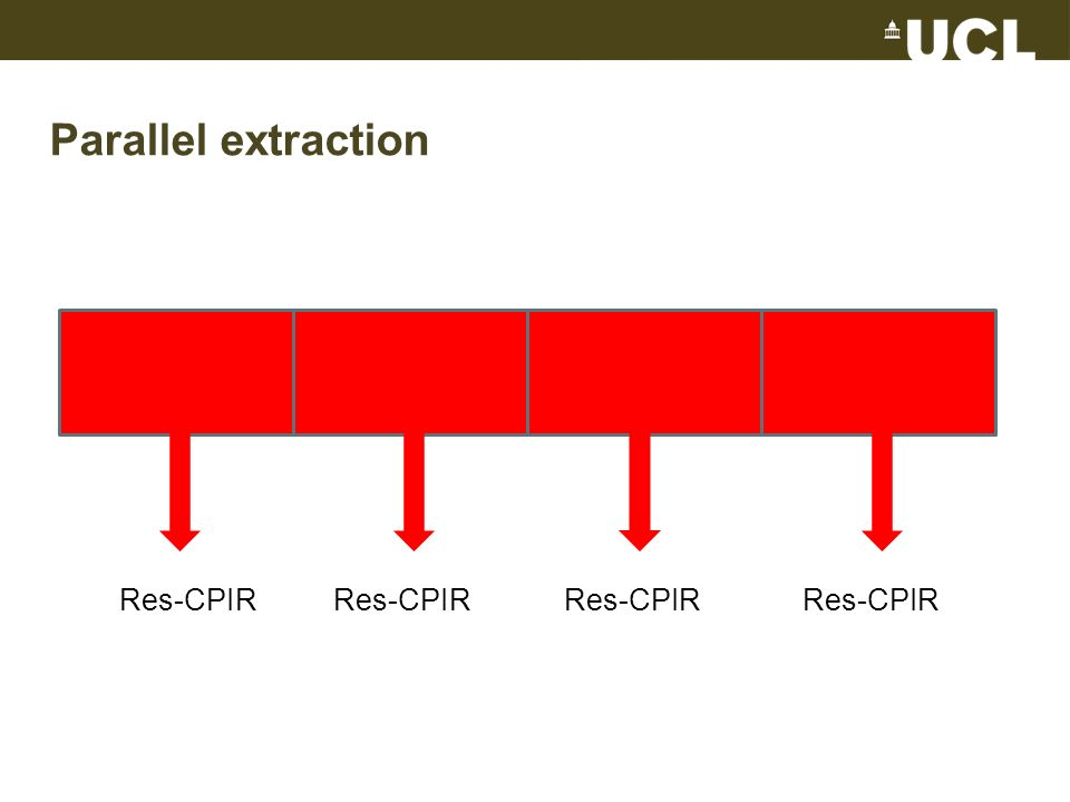Parallel extraction Res-CPIRRes-CPIR Res-CPIR Res-CPIR