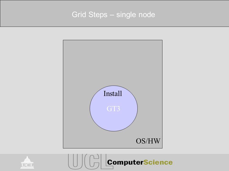 Grid Steps – single node Install OS/HW GT3 Install