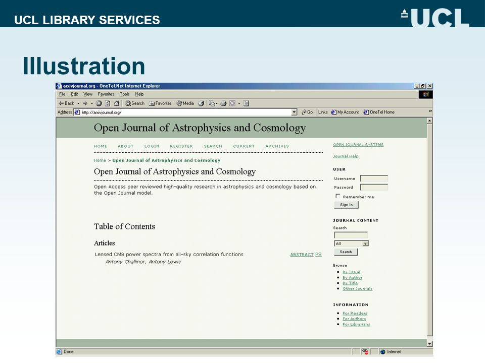 UCL LIBRARY SERVICES Illustration