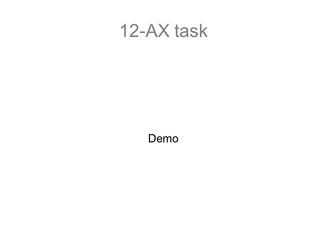 12-AX task Demo