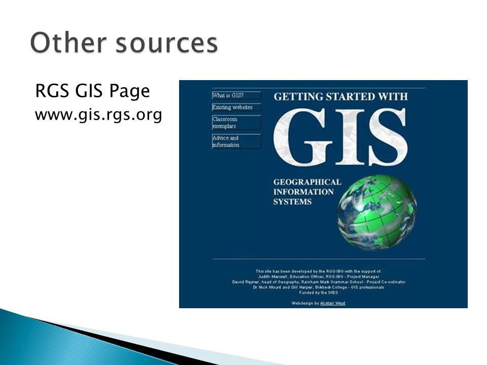RGS GIS Page www.gis.rgs.org