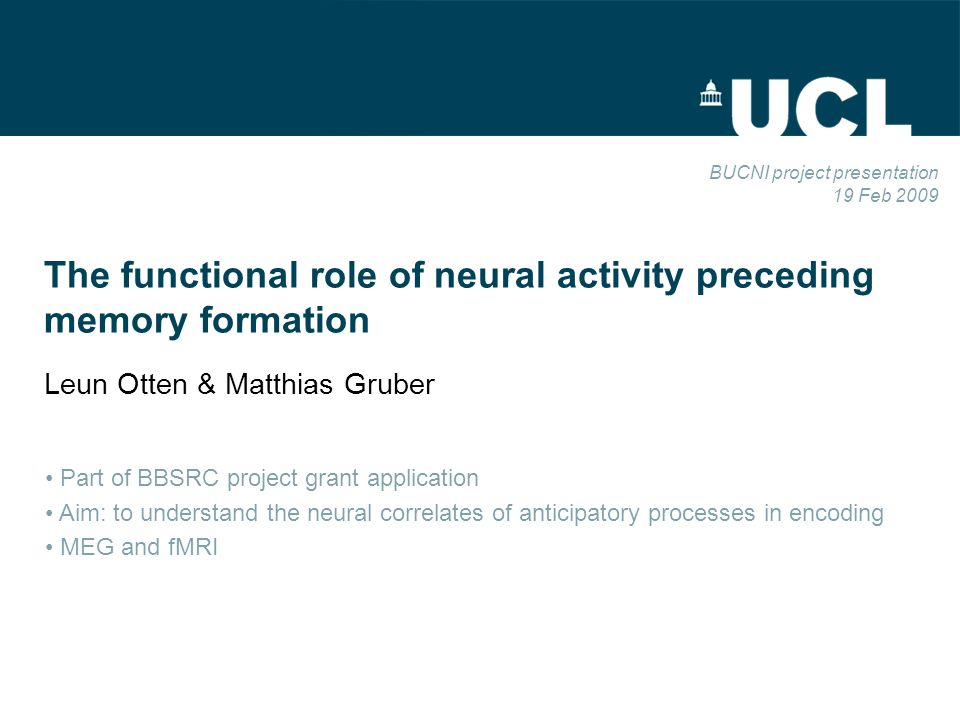 Background Neural activity elicited by an event can index its successful encoding into memory Recently, shown that encoding is also influenced by activity before an event Important for several reasons Largely unknown what brain regions underlie encoding-related pre-stimulus activity EEG work suggests role for semantic preparation Event Time