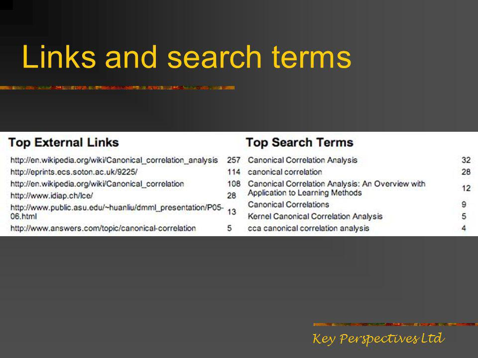 Links and search terms Key Perspectives Ltd