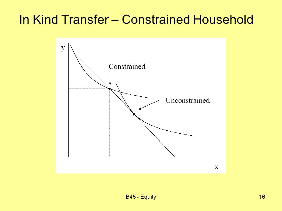 B45 - Equity16 In Kind Transfer – Constrained Household