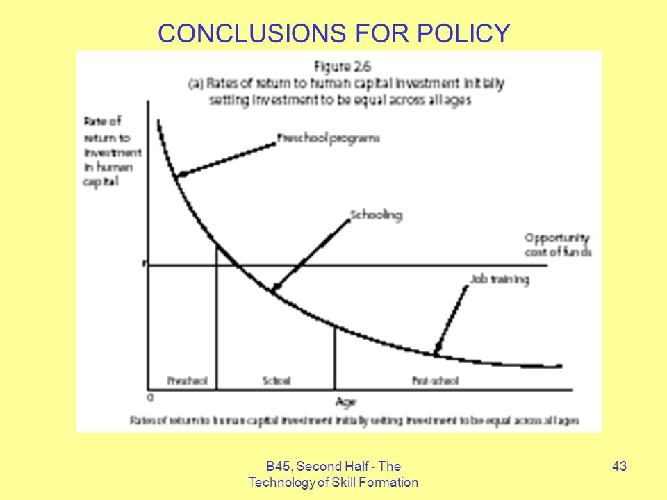 B45, Second Half - The Technology of Skill Formation 43 CONCLUSIONS FOR POLICY