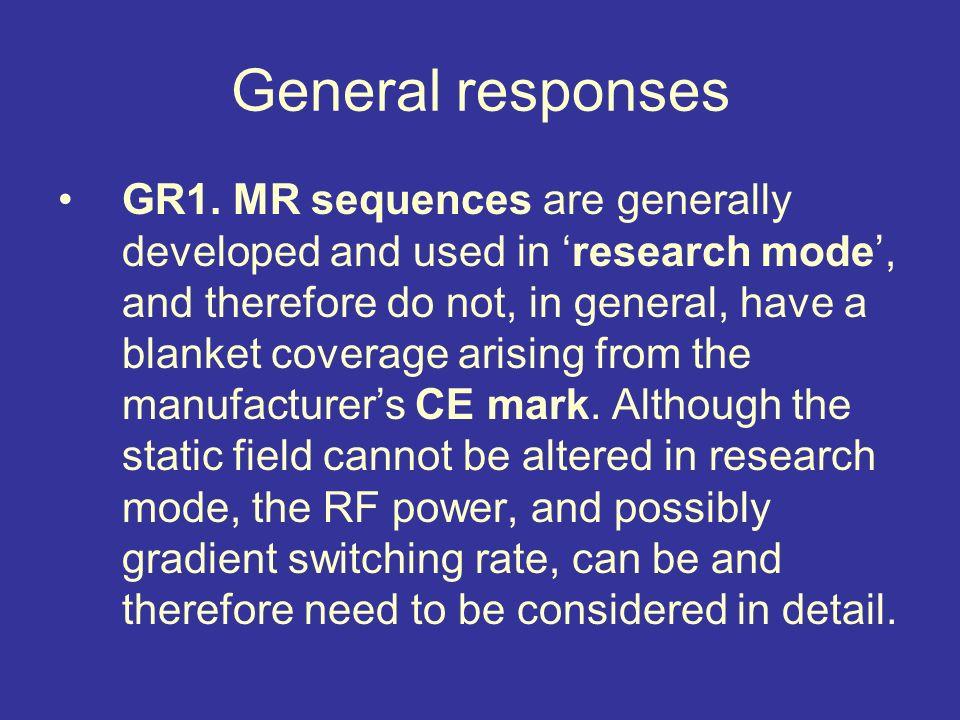 General responses GR1.