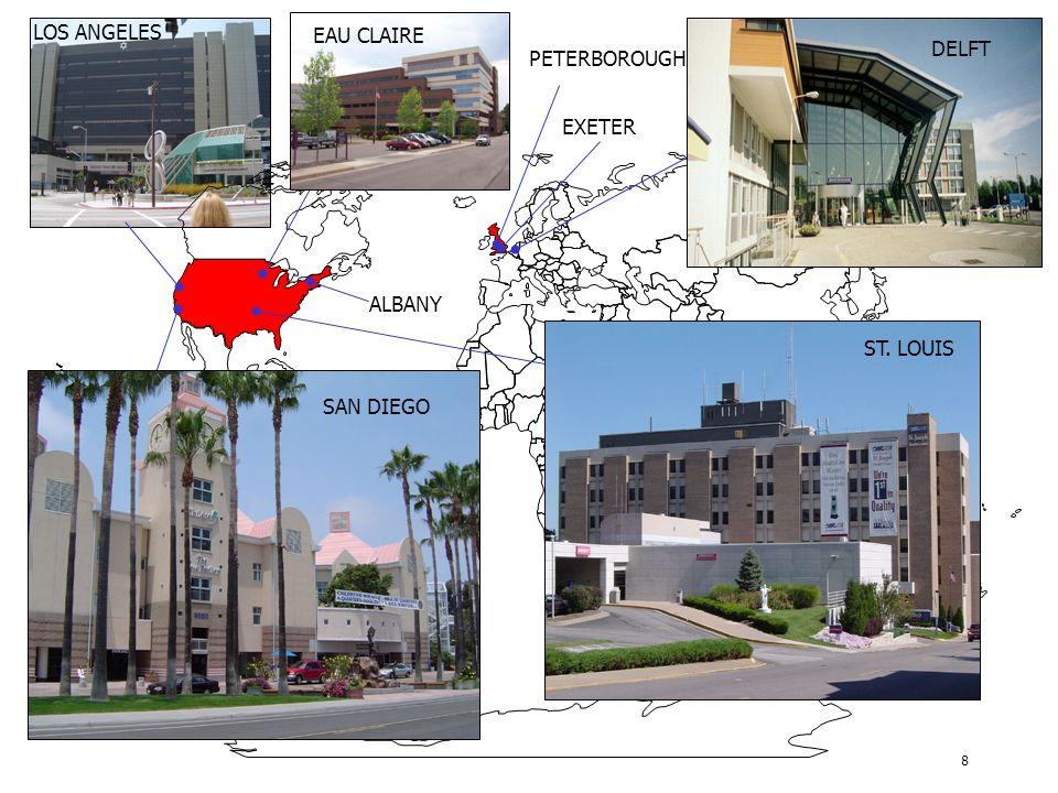 8 ALBANY PETERBOROUGH EXETER DELFT ST. LOUIS SAN DIEGO EAU CLAIRE LOS ANGELES