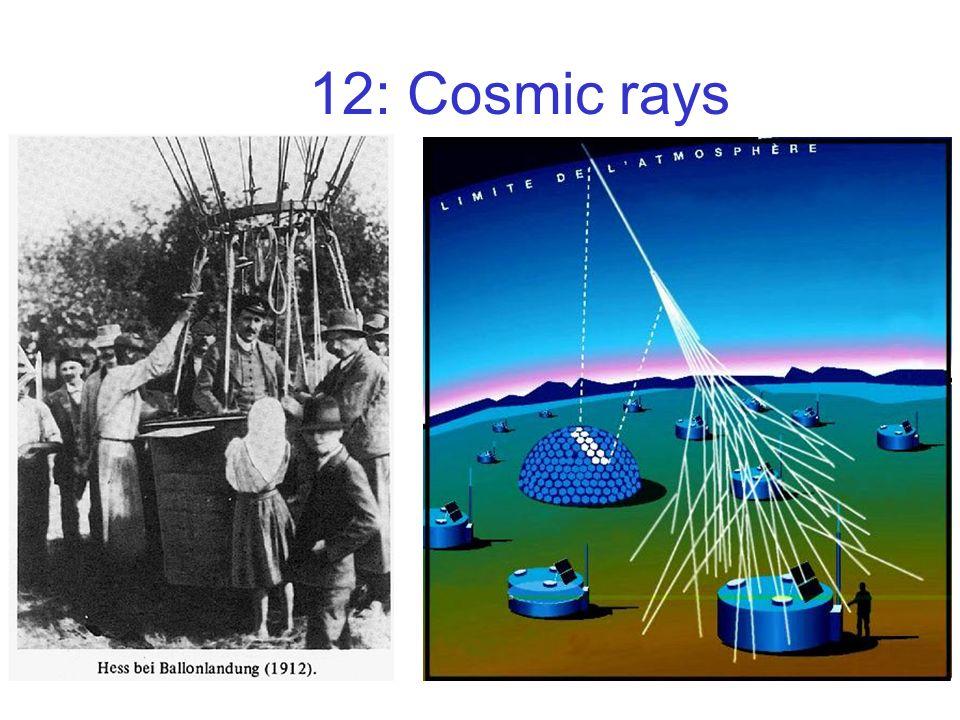 12: Cosmic rays
