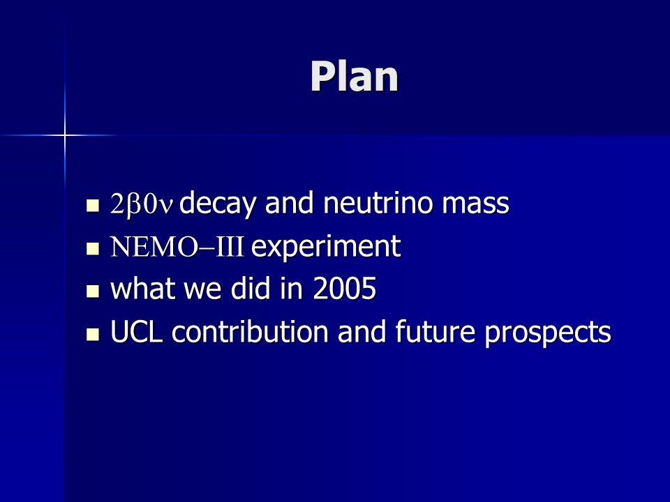 decay and neutrino mass decay and neutrino mass L=0 L=2 .