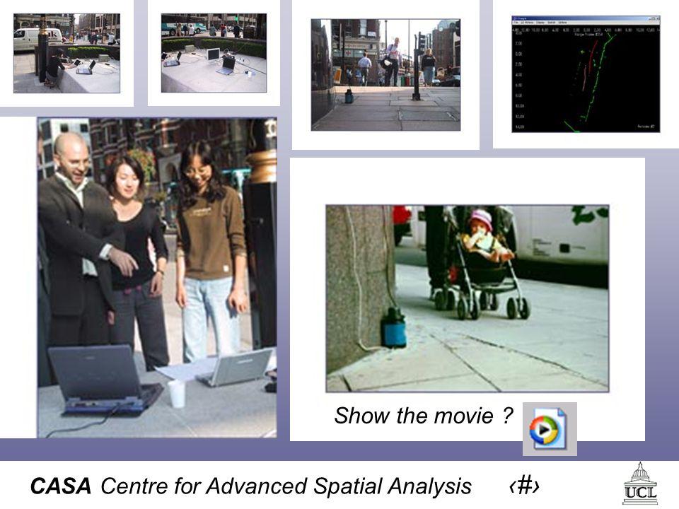 CASA Centre for Advanced Spatial Analysis 13 Show the movie ?