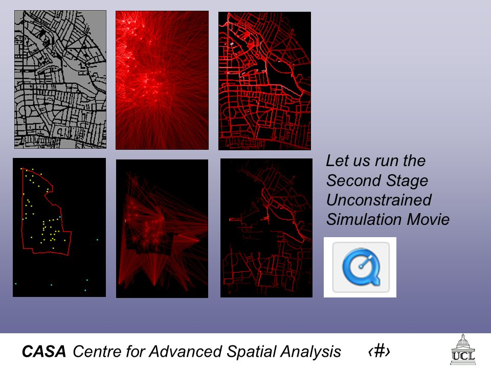 CASA Centre for Advanced Spatial Analysis 29 Let us run the Second Stage Unconstrained Simulation Movie