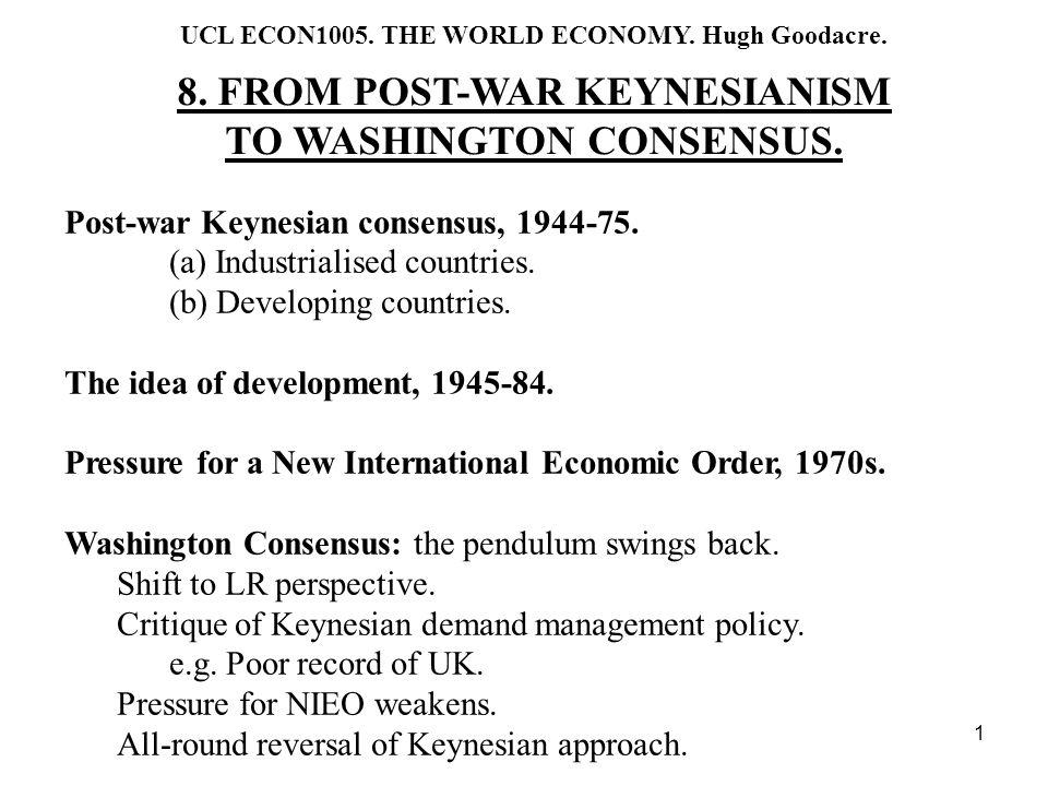 22 Classical counter-attack: Washington Consensus, 1975-96.