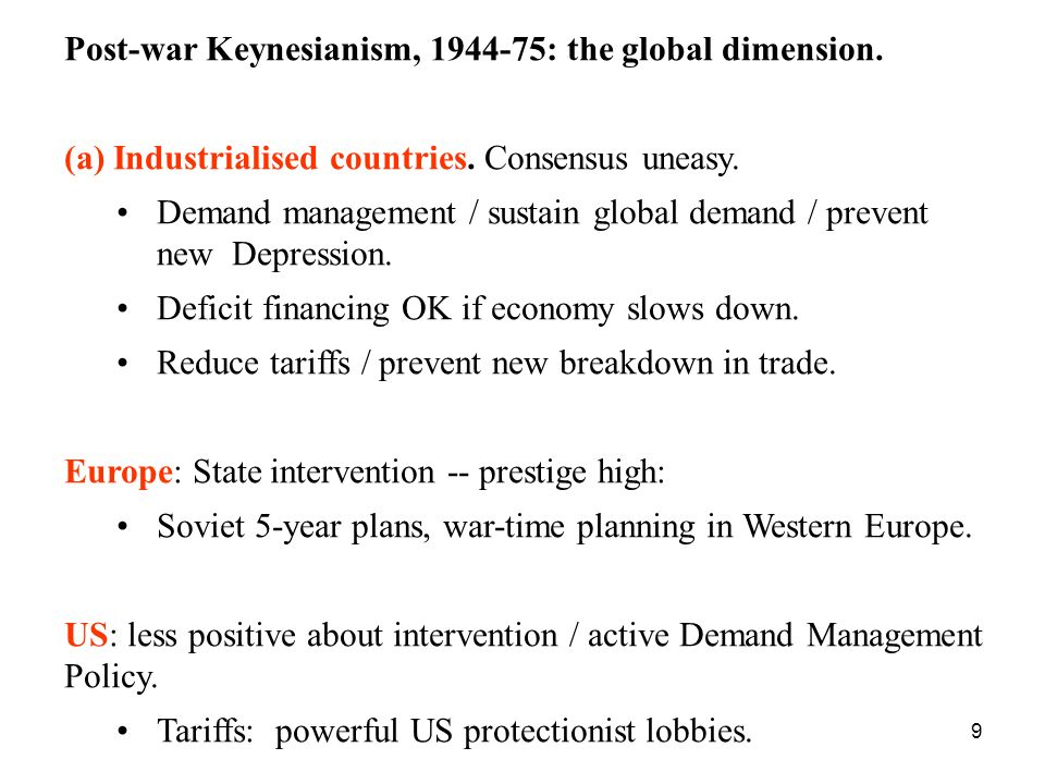 20 Classical counter-attack: Washington Consensus, 1975-96.