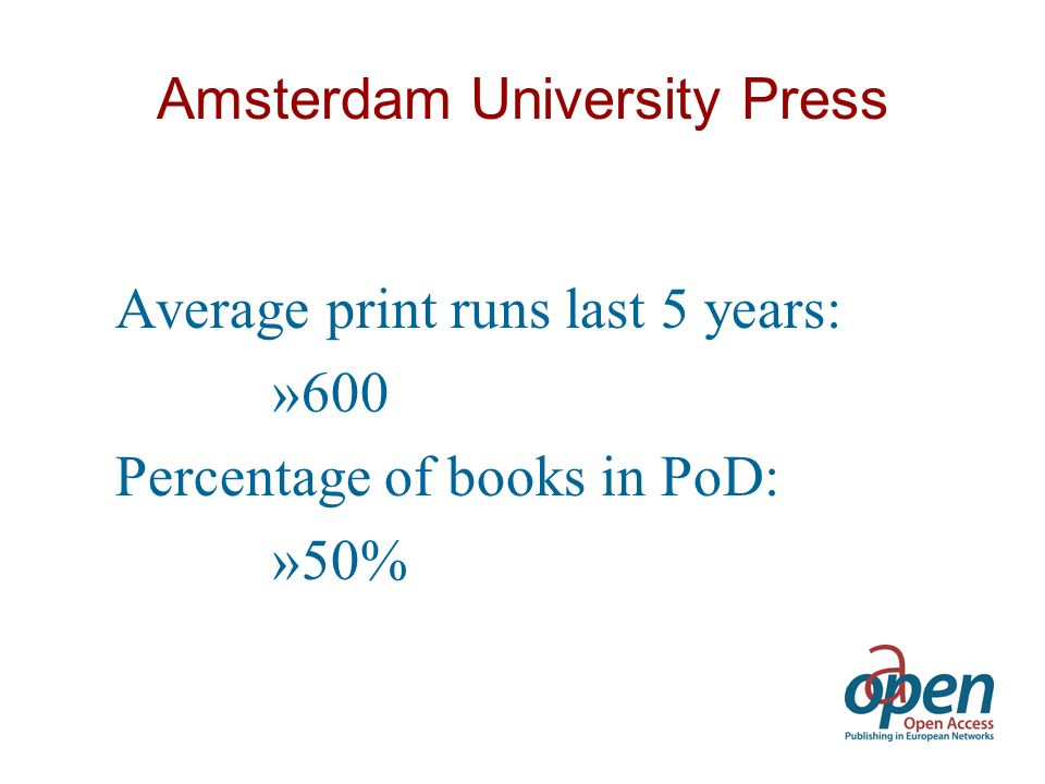 Publication Model Traditional Print Runs –Research, Textbooks Printing on Demand –Dissertations, Reports Online Library / Repository –All publications, including earlier publications
