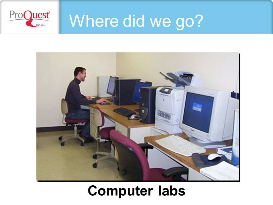 The library Computer labs Where did we go?