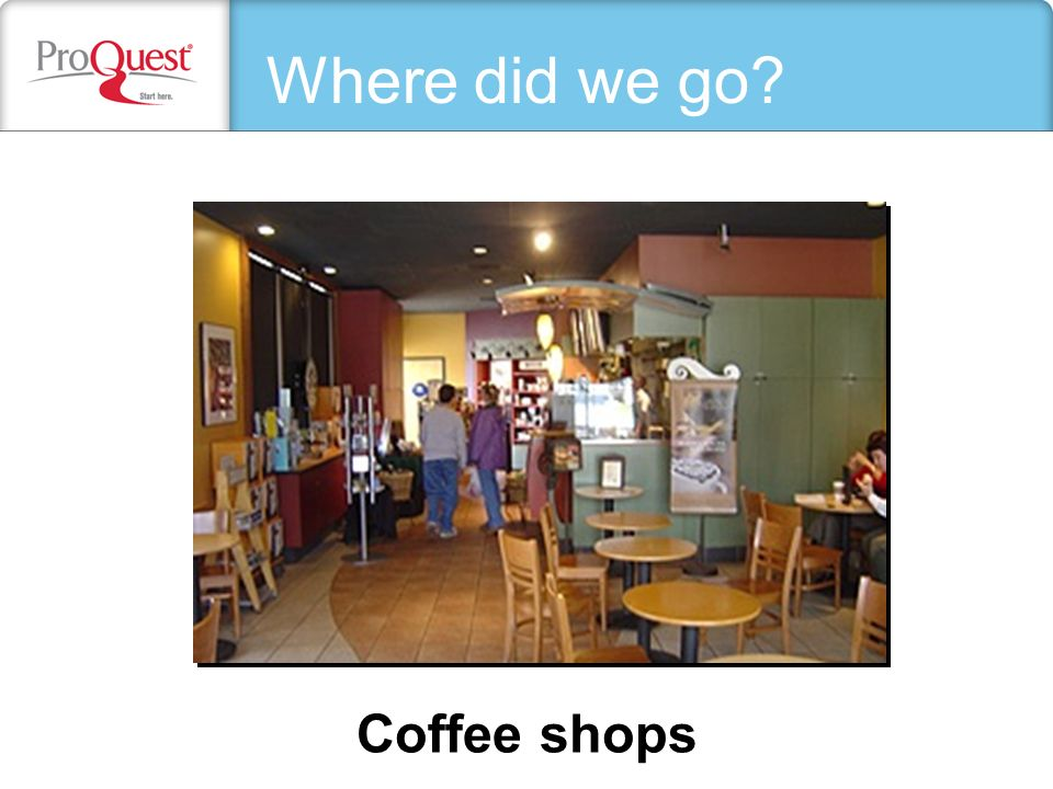 Coffee shops Where did we go?