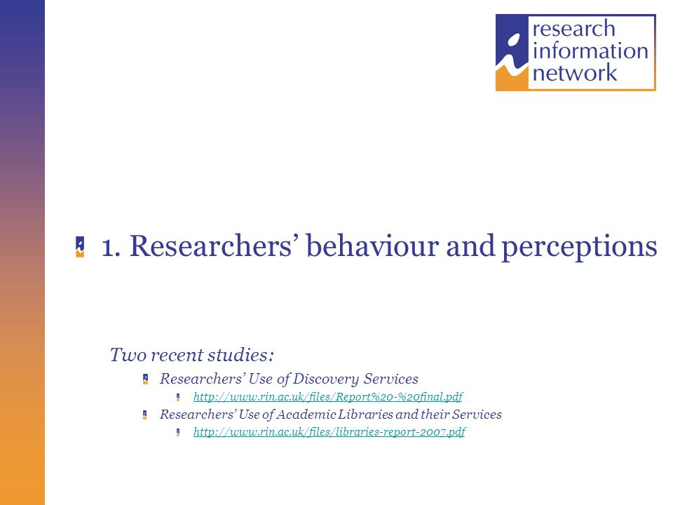 How Useful are Digital Resources? See http://www.rin.ac.uk/files/libraries-report-2007.pdf