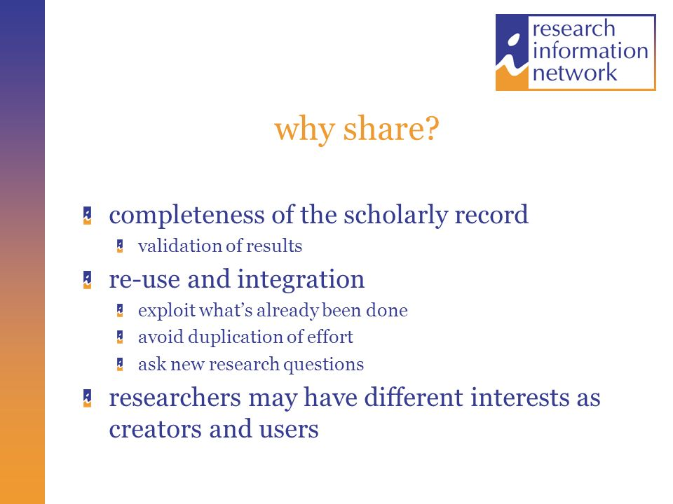 why share.