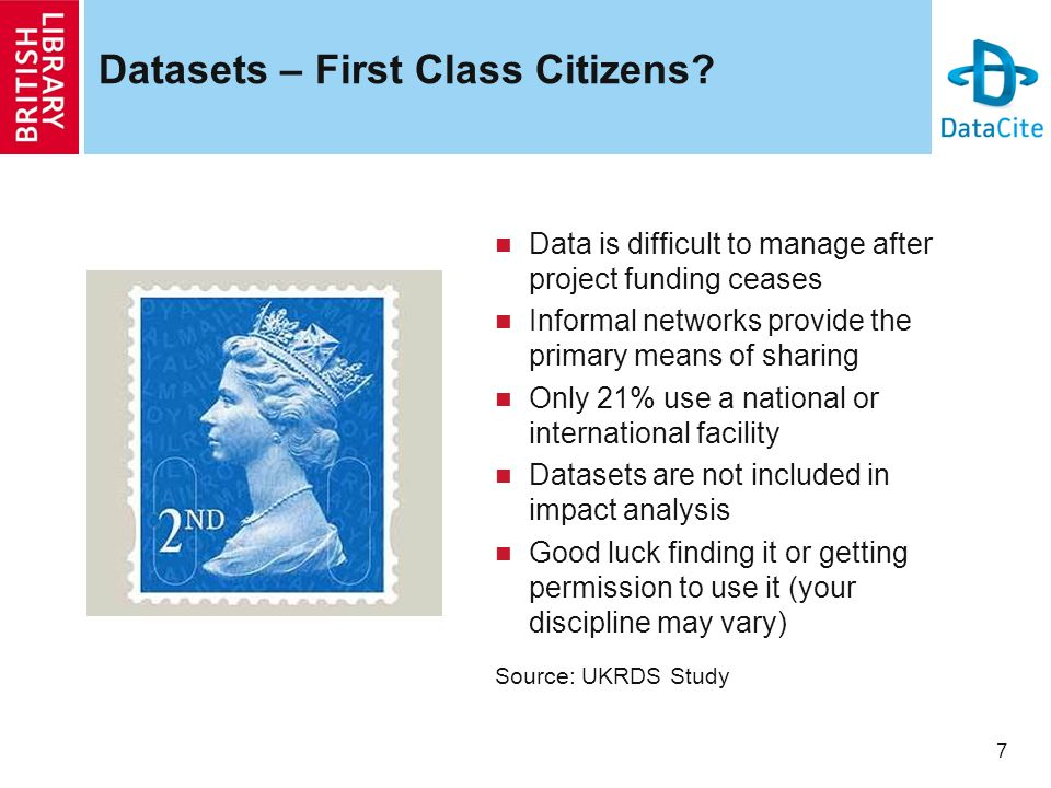 7 Datasets – First Class Citizens.