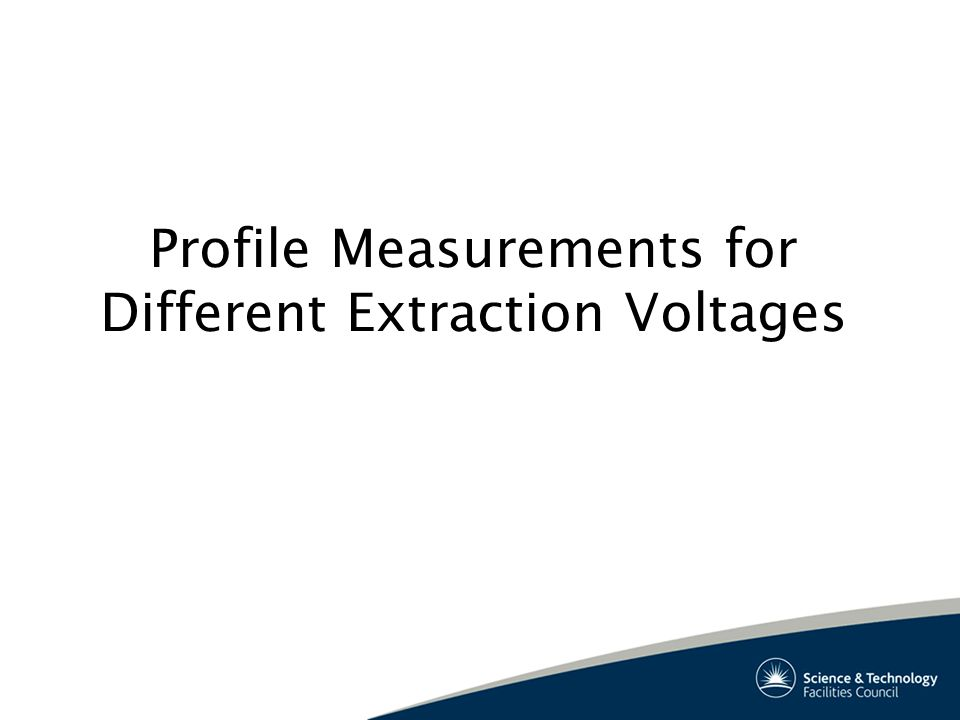 Profile Measurements for Different Extraction Voltages