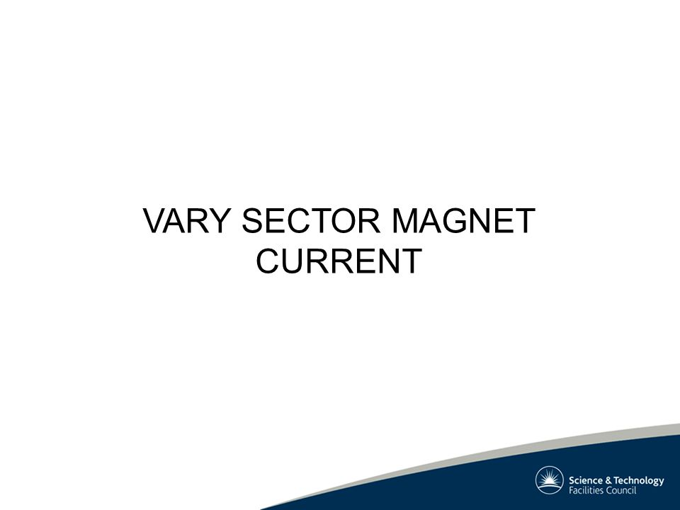 VARY SECTOR MAGNET CURRENT