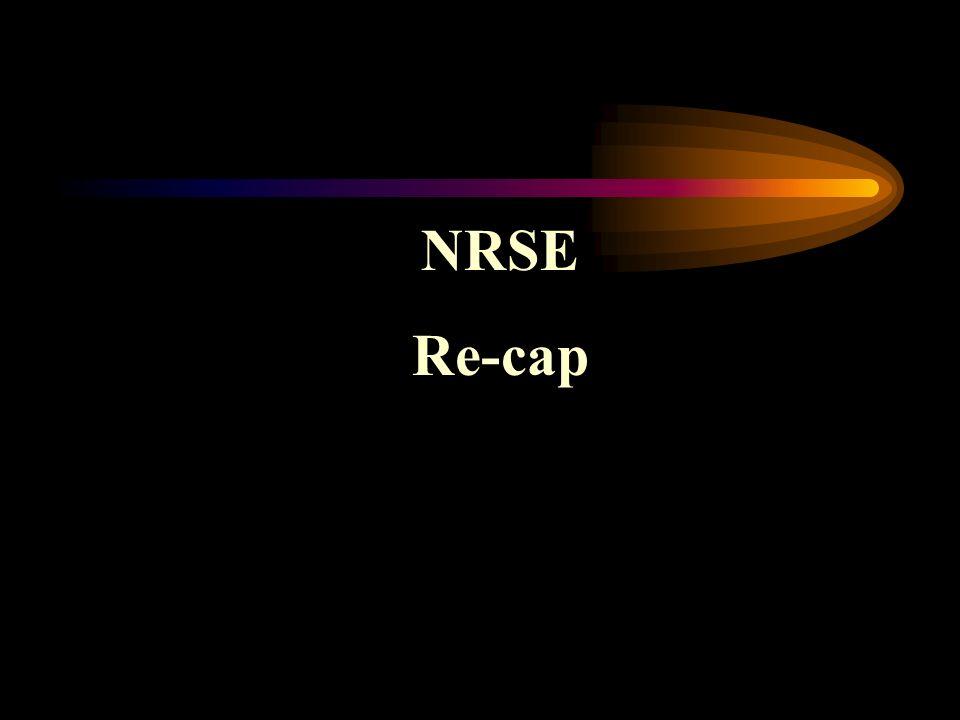 NRSE Re-cap