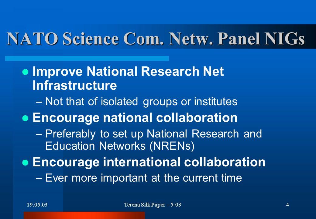 19.05.03Terena Silk Paper - 5-034 NATO Science Com.
