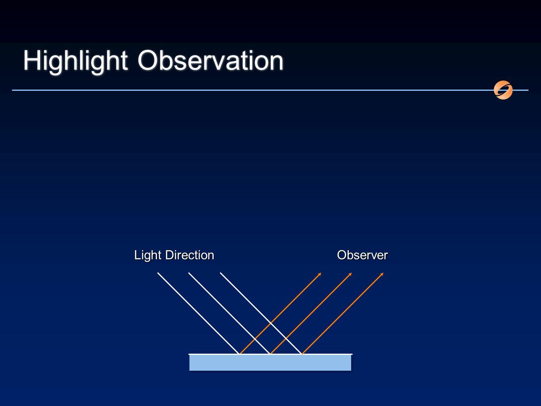 Highlight Observation Light Direction Observer