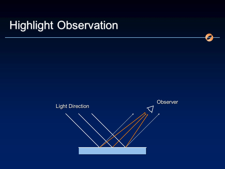 Highlight Observation Light Direction