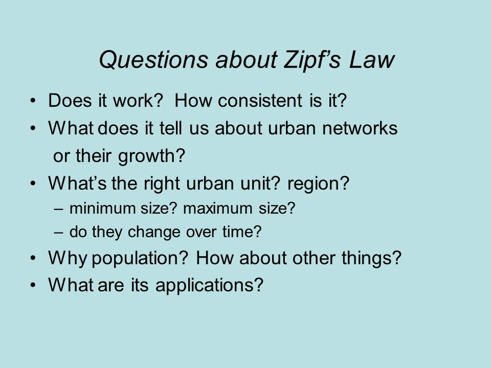 Questions about Zipfs Law Does it work. How consistent is it.