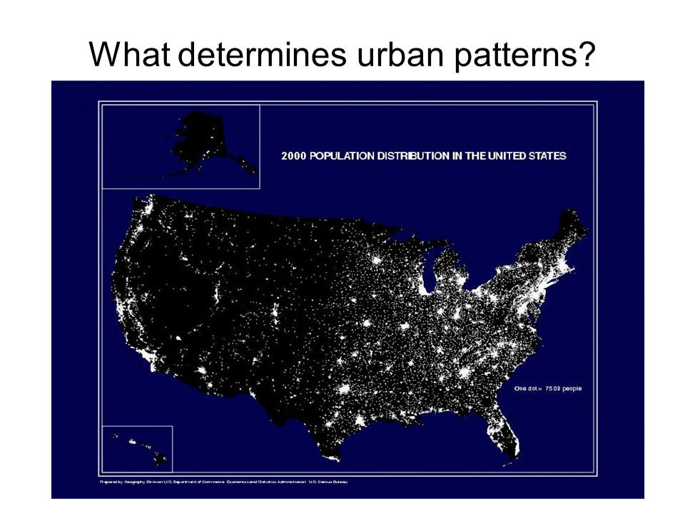 What determines urban patterns