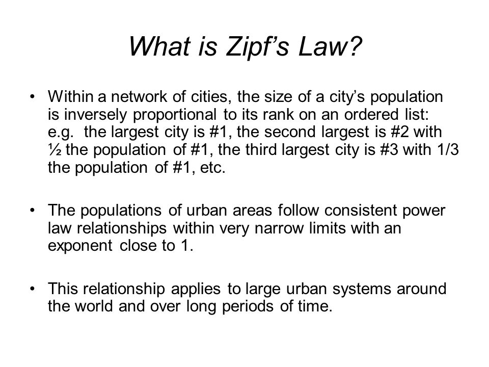 What is Zipfs Law.