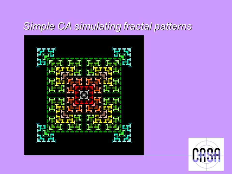 Simple CA simulating fractal patterns