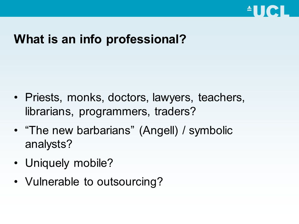 What is an info professional.