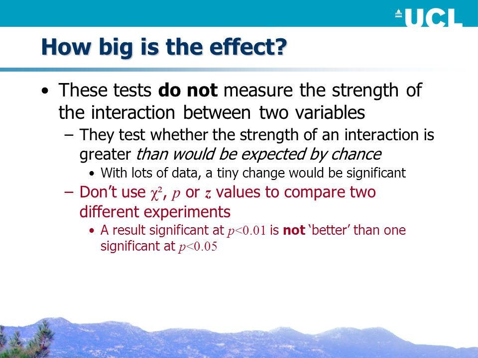 How big is the effect.