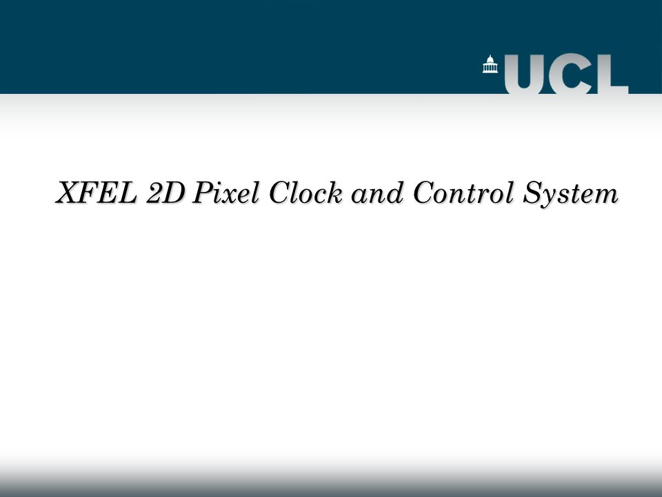 XFEL 2D Pixel Clock and Control System