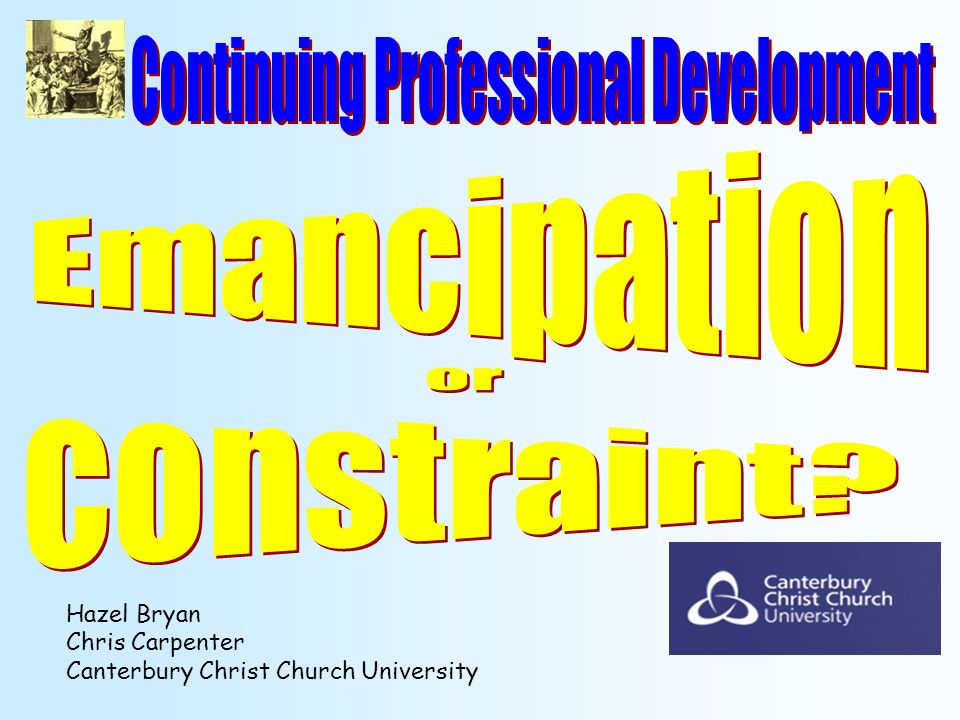 Hazel Bryan Chris Carpenter Canterbury Christ Church University
