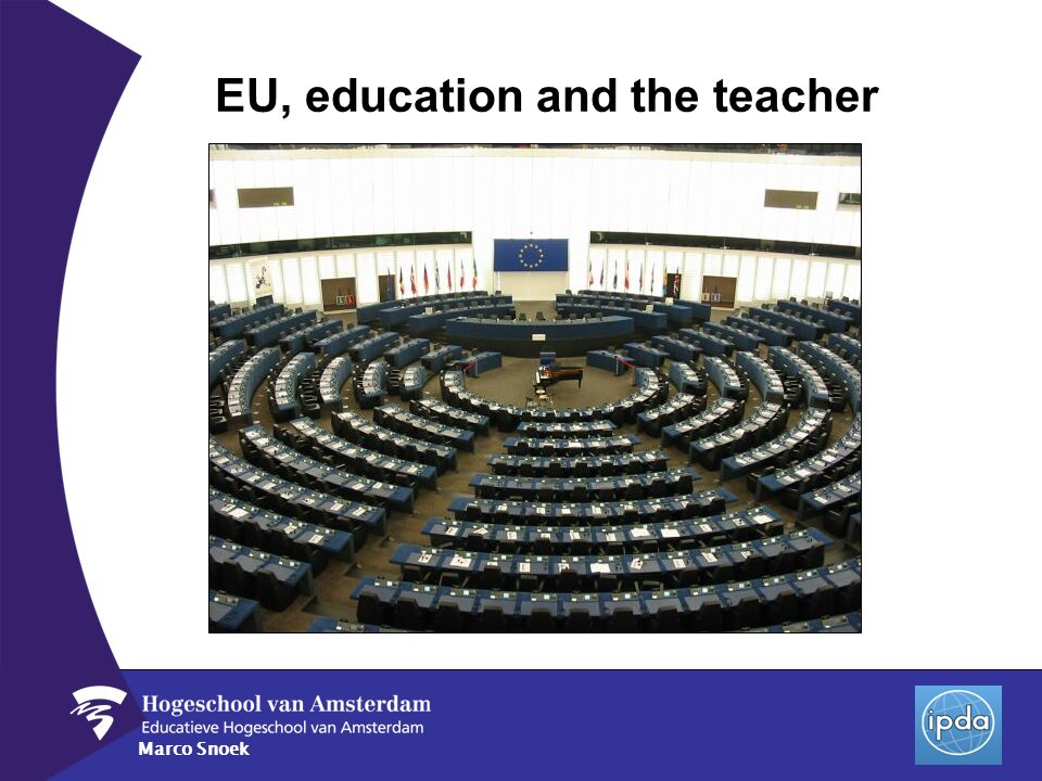 Marco Snoek EU, education and the teacher