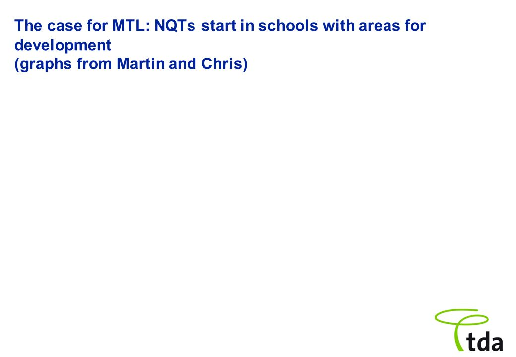 The case for MTL: NQTs start in schools with areas for development (graphs from Martin and Chris)