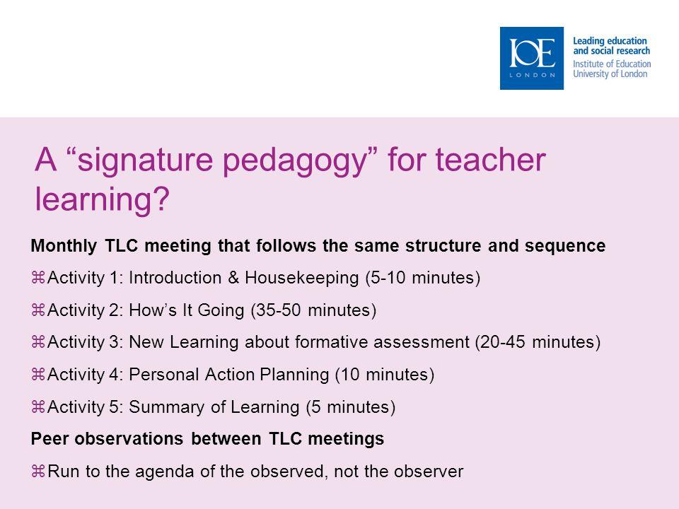 A signature pedagogy for teacher learning.