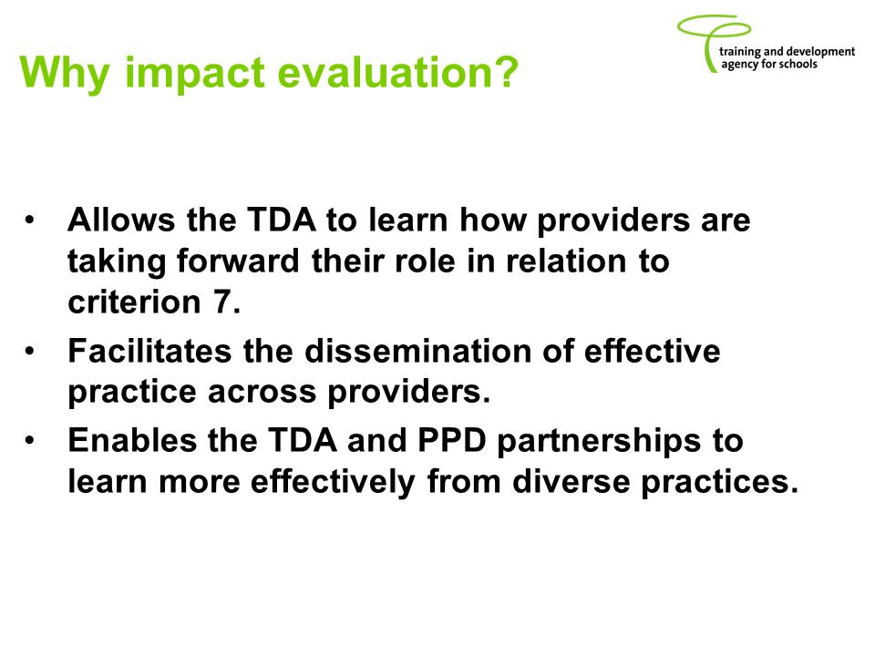 Why impact evaluation.