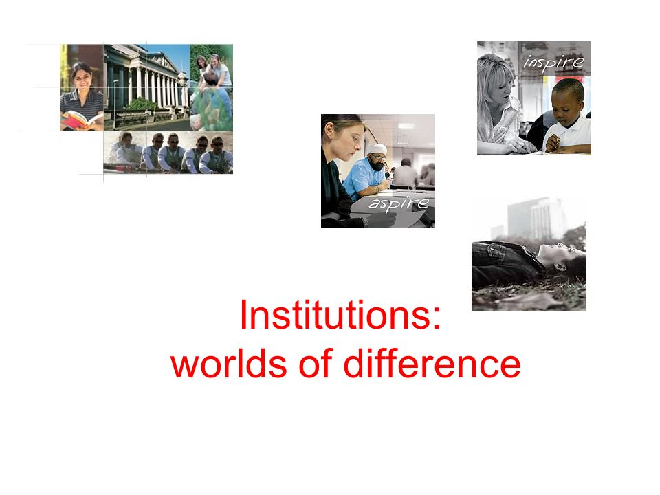 Institutions: worlds of difference