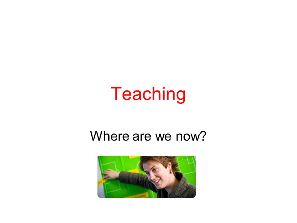 Teaching Where are we now?