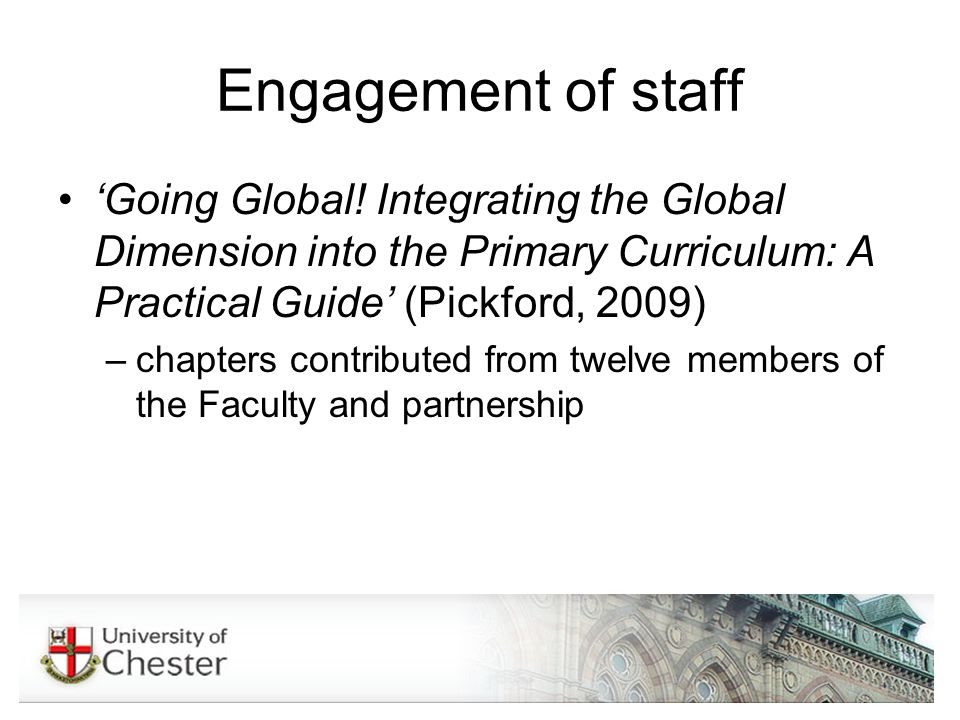 Engagement of staff Going Global.