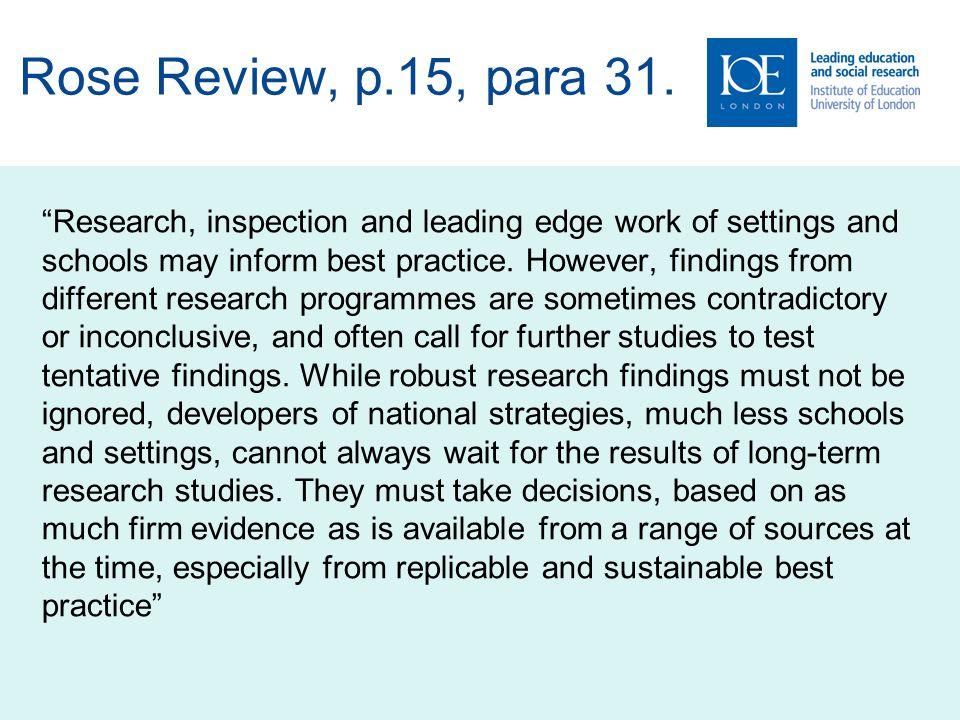 Rose Review, p.15, para 31.