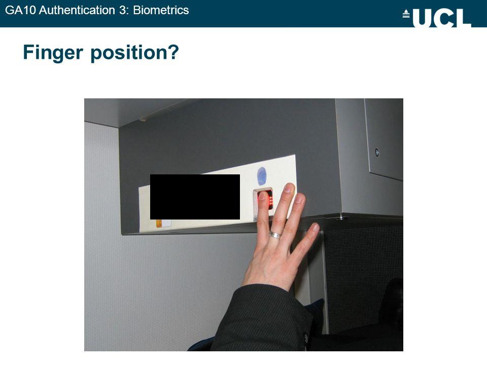 GA10 Authentication 3: Biometrics Finger position?