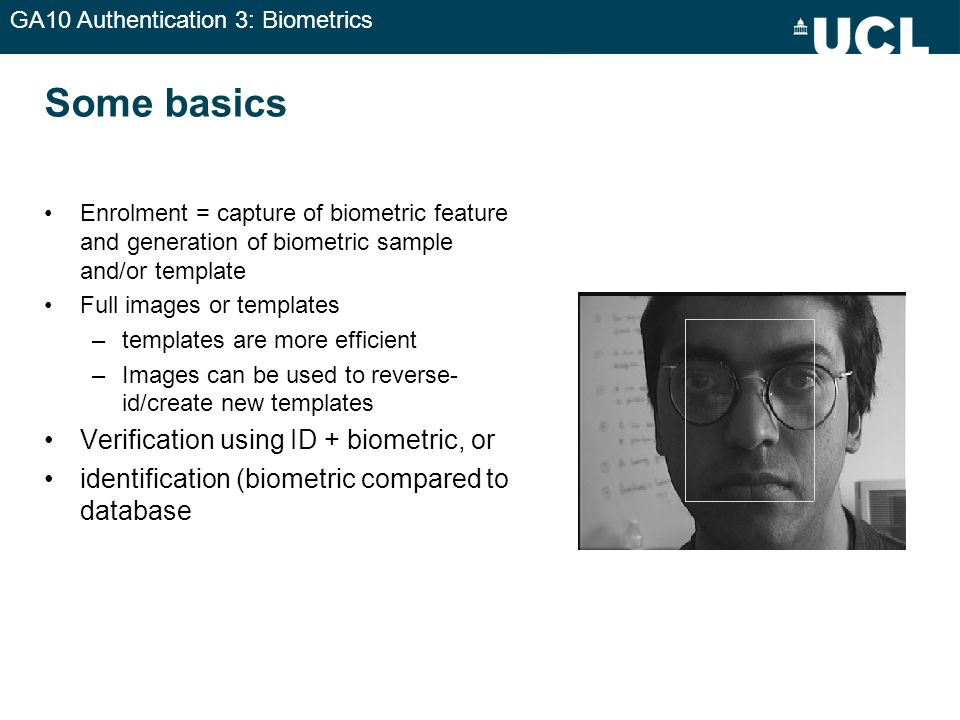 GA10 Authentication 3: Biometrics