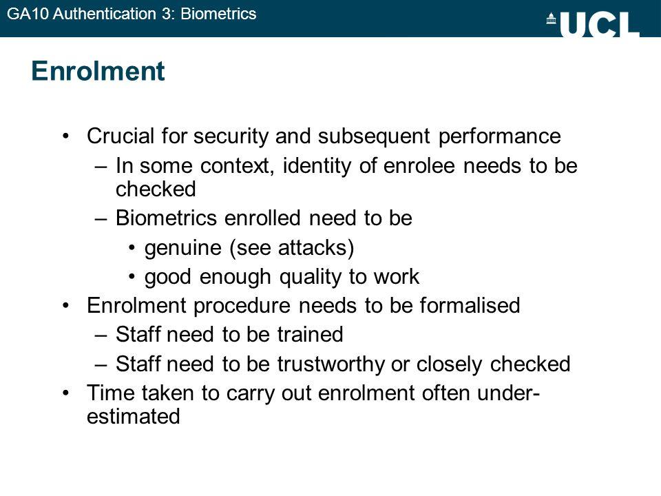 GA10 Authentication 3: Biometrics Distance