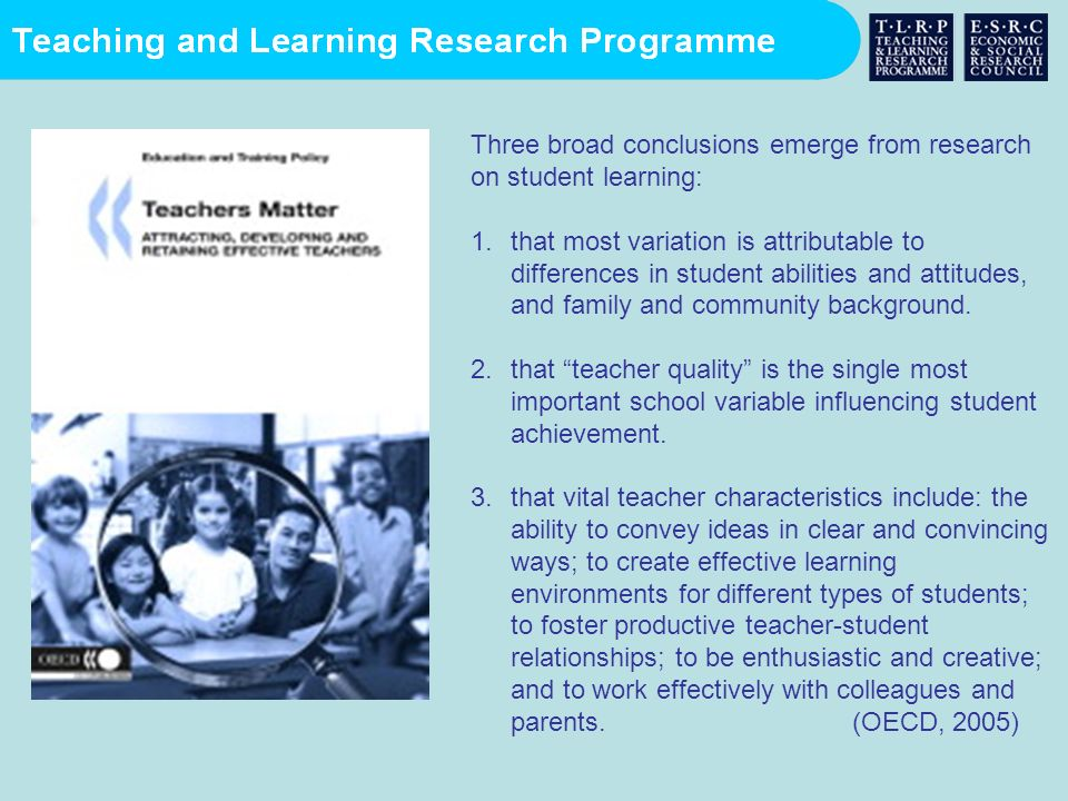 Teaching and Learning Research Programme User summaries