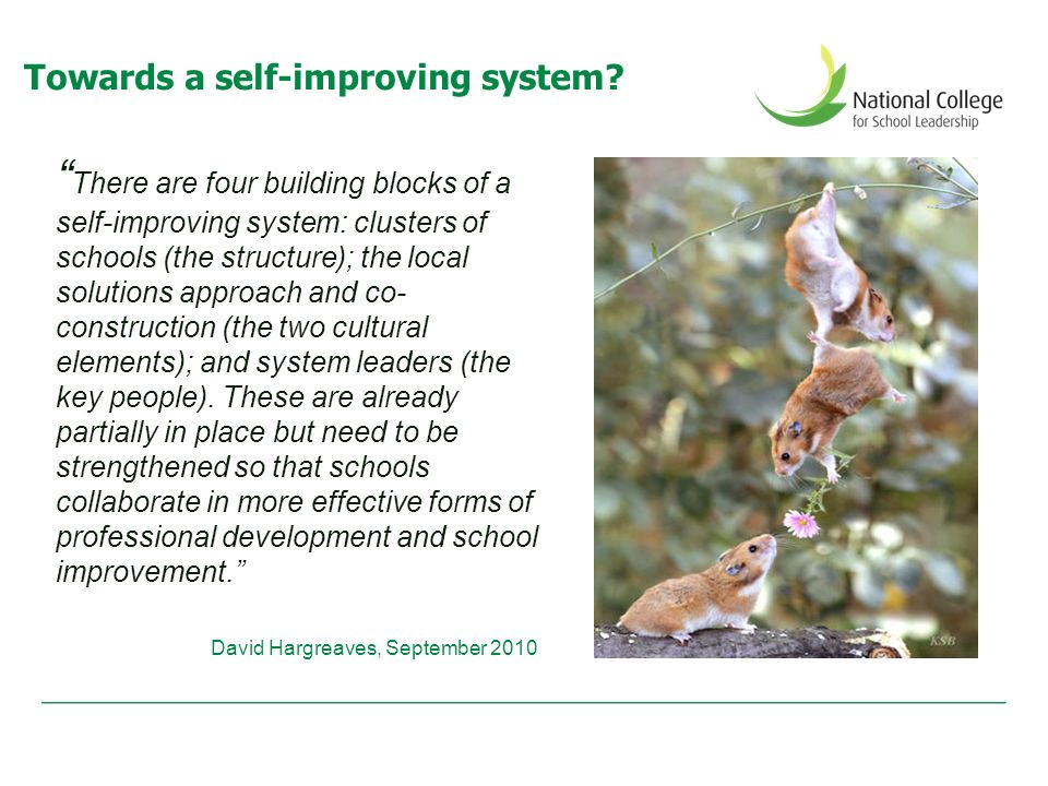 Towards a self-improving system.
